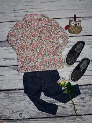 12 - 18 месяцев 86 см месяцев H&M рубашка блузка для модниц обалденно модная и эффектная розы