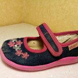 Туфли,текстильные балетки, мокасины,слипоны,кеды, лоферы,тапочки размер 24 см, б/у