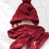Теплые немецкие шапка и шарф C&A 54-56