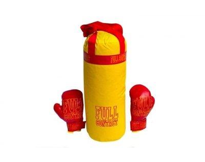 Детский боксерский набор с перчатками 0004DT Бол Full Желтый