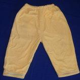 Вельветовые штанишки на флисе на 1-1,5