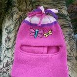 Шапка-Шлем для девочек, на 0.5-1 год