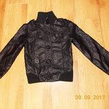 Кожаная фирменная куртка для ребенка10-11 лет, 140-146 см
