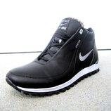 кожаные зимние мужские кроссовки 40-45