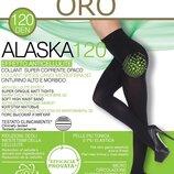 Alaska Oro колготы 120 DEN черные теплые с высоким поясом колготки