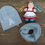 Набор шапка и хомут для девочки подростка