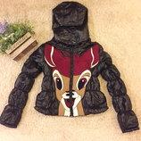 Куртка с нашивкой Бемби,р.s