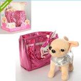 Собачка в сумочке Кикки M 3642 UA Розовая Фантазия аналог Chi Chi Love