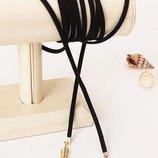 Новый черный замшевый чокер шнурок ожерелье на шею много бижутерии