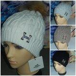 Hermes брендовые шапки с натуральным бубоном,шерсть,очень теплая