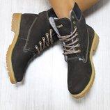 Зимние Женские Ботинки Timberland тимберленды натуральные