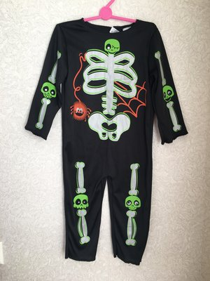 15e483d06cb4 Карнавальный костюм Скелета на мальчика 1-2 годика на Хеллоуин или Новый год