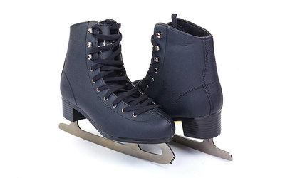 Коньки фигурные черные 4463 37-44 размер лезвие-сталь