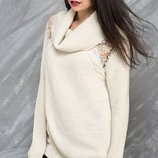 фирменный бежевый свитер MILLA размер 3XL-4XL