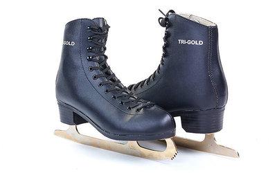 Коньки фигурные черные O333 40-45 размер лезвие-сталь