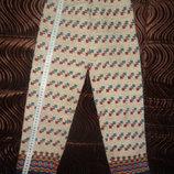 теплые вязаные штаны для девочек
