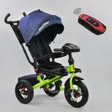 Детский трехколесный велосипед 6088 F 1780 Best Trike New Blue-Lime Green