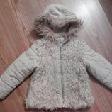 Демисезонная теплая куртка курточка Next для девочки 104-110 с 4-5-6 л