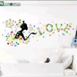 Интерьерная наклейка Девочка Love