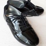 Туфли черные лоферы Crazy 8, лаковые, 13 размер, 19 см, USA 13, 29-30 размер