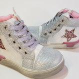 Утепленные деми ботинки для девочки 23 - 15 см стелька