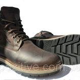 Мужские кожаные зимние ботинки Riccone Brown модель R-7