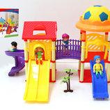 Домик 326-532 игровой центр с куколками,горками,в кор.