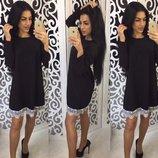 Свободное платье с кружевом Барби Код 096