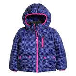 Зимние куртки для девочки H&M р.122 6/7лет