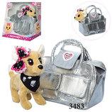 Интерактивная собачка Кикки 3483 собачка в сумочке аналог Chi Chi Love Kikki