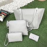 Стильный набор женских сумок 4в1 В Наличии