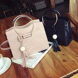 каркасная женская сумка с круглыми ручками В Наличии