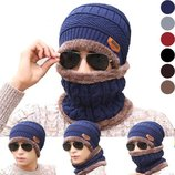 Комплект шапка и шарф 4 цвета AL7926