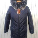 Зимняя женская куртка Змейка больших размеров, много расцветок
