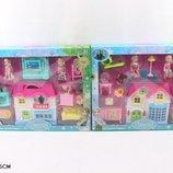 Домик Frozen 8132AB 2 куколки, мебель, в кор. 42 7 34см