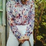Чудесная Очаровательная с модным притом Блузка шифон.