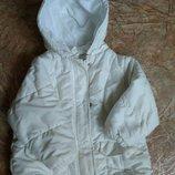 Демисезонная белоснежная Куртка для девочки