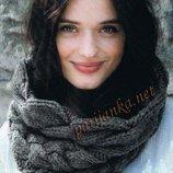 Объёмный теплый шарф - снуд , воротник