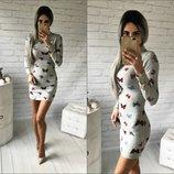Платье-Мини ангора Мотылёк