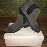 Стильные замшевые, демисезонные ботинки Matalan