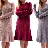 Теплые шерстяные платья миди, разные цвета. Италия.