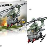 Конструктор Jie star 29038 военный вертолет 156деталей в коробке 28,5 5,5 19 см