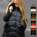 Шикарная зимняя куртка с натуральным мехом