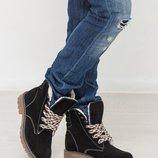 Мега стильные кожаные и замшевые ботинки.Зима-весна 2019.Акция до 8.03