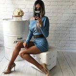 Хит Трикотажное классическое платье Лилиан рукав летучая мышь с вырезом лодочка от р40 по р46