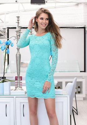 Мини-Платье с набивного гипюра с фистоном 6 цветов