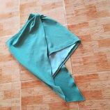 мятно-зеленая нарядная юбка с ассиметричным низом