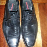 Кожаные туфли р.47 по стельке 33см. чёрные, в отличном состоянии.