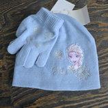 Шапка и перчатки, C&A, 104-122, 128-152 Ельза, Эльза