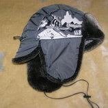Детская меховая шапка, зимняя детская шапка, детская шапка ушанка.